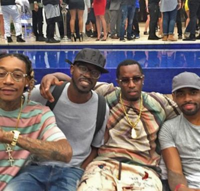 Black Coffee hangs out with Wiz Khalifa