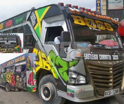 Hottest matatu in Nairobi rocking Rasta colours