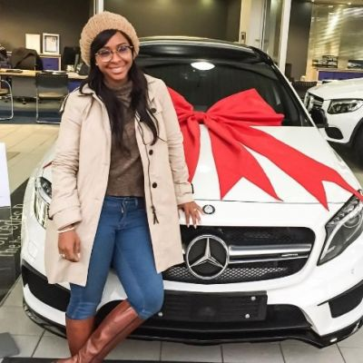 Boity's New car costed her R800,000 - Mercedes Benz GLA 45 AMG.