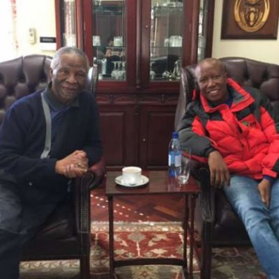 EFF Leaders meets with Former President Mbeki at his home