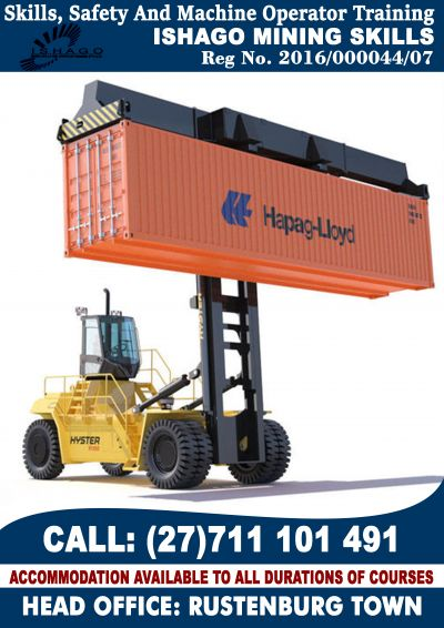 Container handler  training - rustenburg +27711101491 or +27145942376